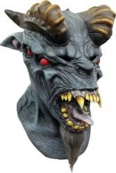 Maschera integrale da diavolo degli inferi da uomo Halloween