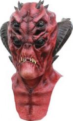 Maschera integrale da diavolo rosso per adulto Halloween