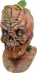 Maschera integrale da zucca vivente adulto Halloween