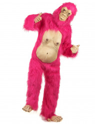 Costume gorilla cool rosa per adulto