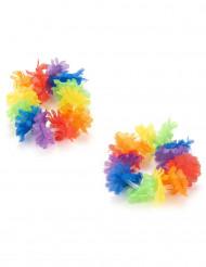 Kit da 2 braccialetti hawaiani multicolori