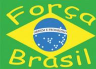 Bandiera per tifosi Brasile