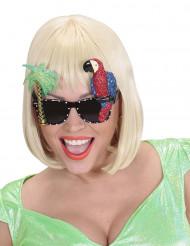 Occhiali hawaiani pappagallo adulto