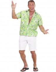 Camicia hawaiana verde uomo