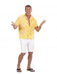 Camicia hawaiana gialla uomo