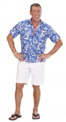 Camicia hawaiana blu uomo