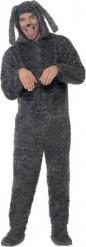 Costume cane grigio per adulto