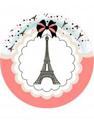 8 Piatti con Tour Eiffel in cartone