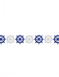 Ghirlanda di carta con timoni bianchi e azzurri