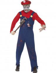 Costume zombie idraulico uomo Halloween
