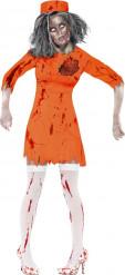 Costume zombie prigioniera Halloween