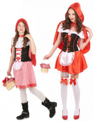 Costume cappuccetto rosso per coppia: madre e figlia