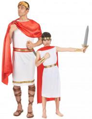 Costume di coppia da antico romano per padre e figlio