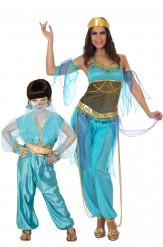 Costume madre e figlia danzatrici orientali blu