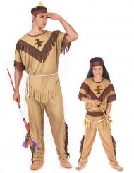 Costume da indiani per coppia padre e figlio