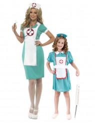 Costume da infermiera per coppia madre e figlia