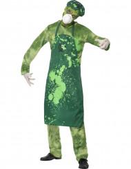 Costume zombie ricercatore nucleare uomo Halloween