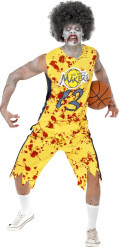 Costume da zombie basket adulto Halloween