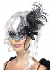 Mascherina veneziana angelo nero