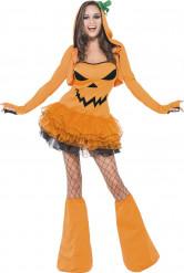 Costume zucca sexy donna Halloween