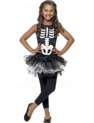 Costume scheletro bambina con tutù