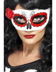 Maschera colorata per donna con rosa