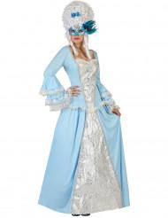 Costume da dama barocca turchese per donna