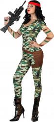 Costume soldato sexy donna