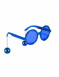 Occhiali disco blu adulto