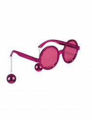 Occhiali rosa disco adulto
