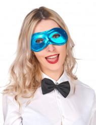 Maschera blu metallizzata adulto