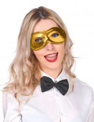 Maschera oro metallizzata adulto