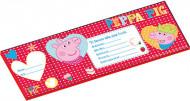 20 inviti/buste Peppa Pig
