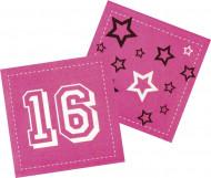 12 Tovaglioli di carta rosa 16 anni