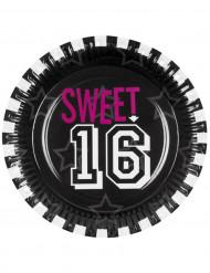 6 Piatti di carta rotondi Sweet 16