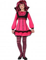 Costume vampiro rosa bambina Halloween