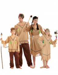 Travestimento famiglia indiana