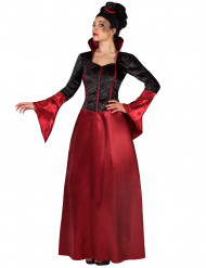Costume vampiro rosso e nero donna Halloween