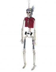 Decorazione da appendere scheletro pirata Halloween