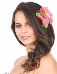 Fermaglio fiori rosa Hawai