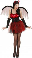 Costume diavolessa rosso sexy donna Halloween