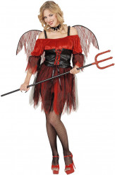 Costume diavolo barocco donna Halloween