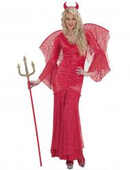 Costume diavolessa rossa donna Halloween