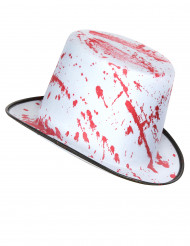 Cappello bianco insanguinato adulto Halloween