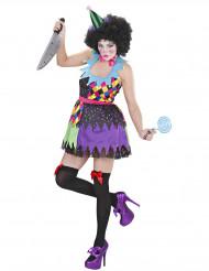 Costume clown spaventosa donna