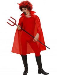 Mantello rosso con colletto bambino