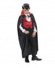 Mantello vampiro colletto rosso bambino Halloween