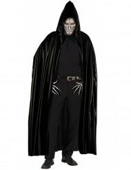 Mantello nero con cappuccio adulto halloween