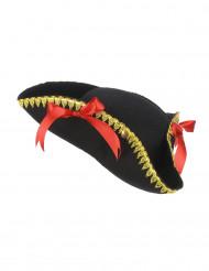 Cappello pirata con fiocchetti rossi