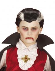 Parrucca vampiro bicolore bambino Halloween